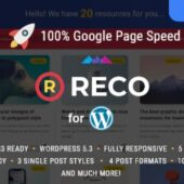 Reco 4.5.8 – Minimal Theme for Freebies