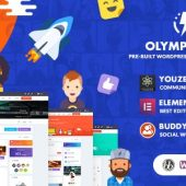 Olympus 3.9.1 – Social Networking Theme